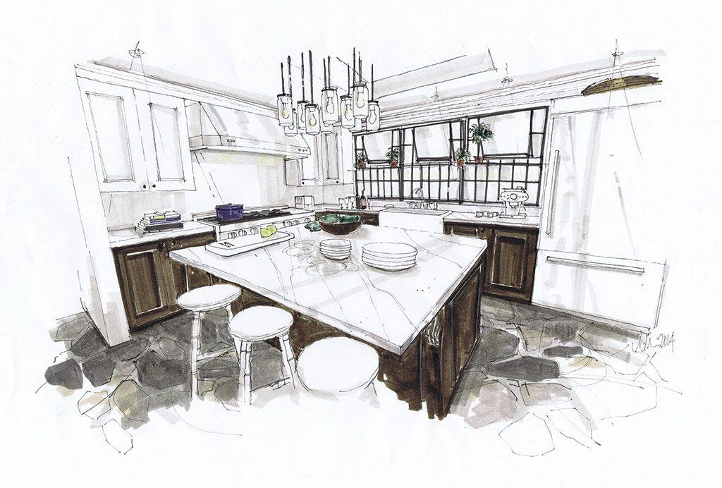 Art interiors · kitchen hand rendering google search · interior design sketchesinterior