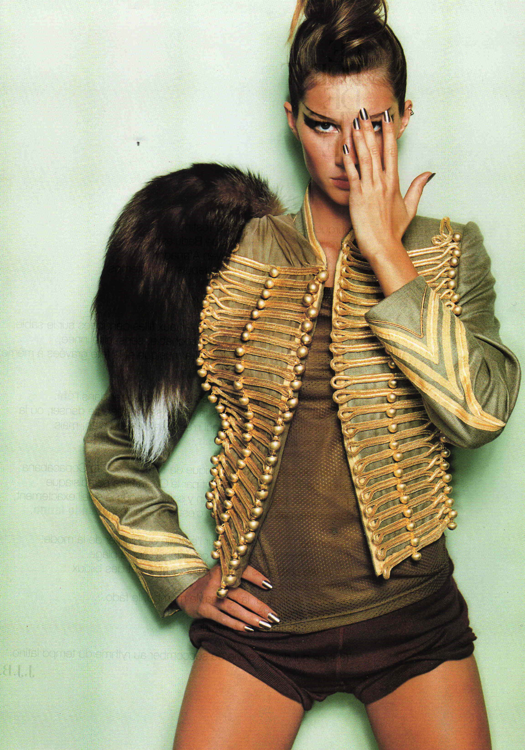 military/band jacket with fox tail - I HATE killing foxes for fur but I like the jacket without the fur