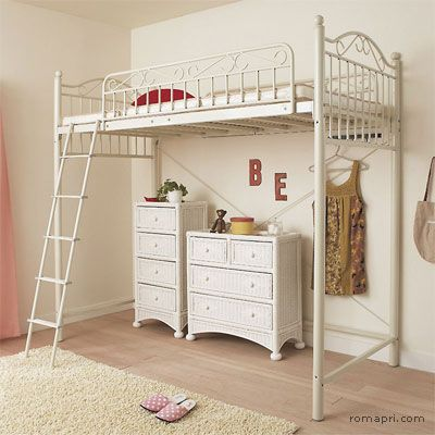 Outstanding Love This Shabby Chic Loft Bed Bedrooms In 2019 Kids Download Free Architecture Designs Grimeyleaguecom