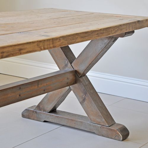 Diy Trestle Table Base Trestle Dining Tables Dining Table Table