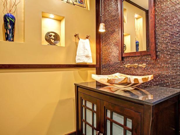 Asian style guest bathroom