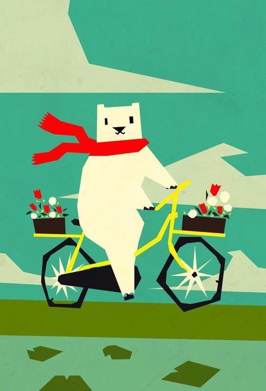 Schön Yeti Riding A Bike Alu Dibond Druck Jetzt Bestellen Unter: Https://moebel .ladendirekt.de/dekoration/bilder Und Rahmen/poster/?uidu003d862e3f86 3b53 561u2026