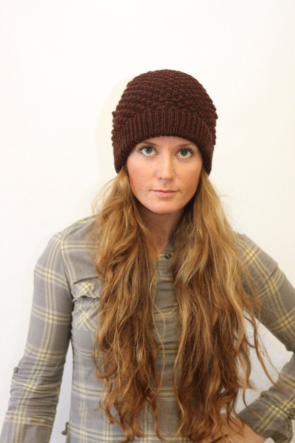 KNITTING PATTERN // Bailey // worsted bramble stitch toque hat ...