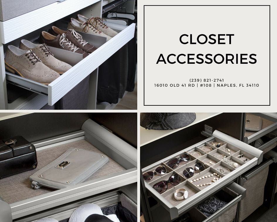 Closet Accessories Including Pull Out Shelf Dividers Drawer NaplesClosets