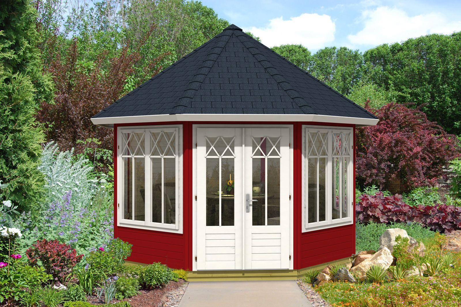 gartenpavillon in schwedenrot und wei gartenpavillons. Black Bedroom Furniture Sets. Home Design Ideas