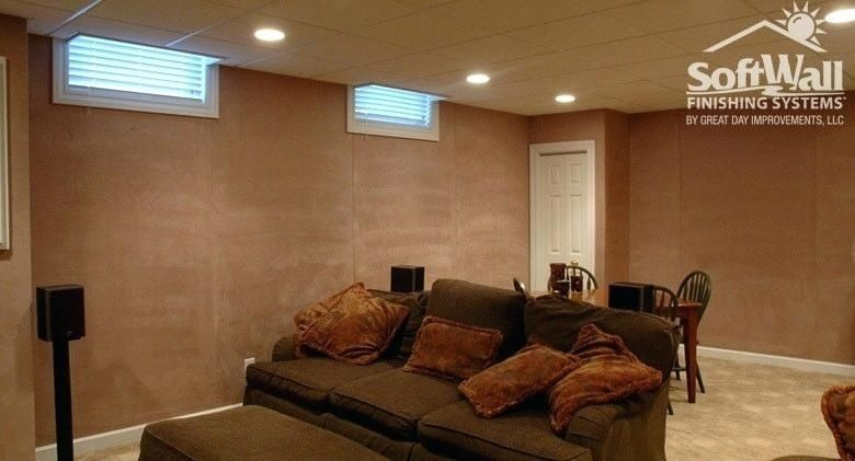 Finishing Basement Walls Without Drywall Finishing Basement Finishing Basement Walls Rectangular Living Rooms