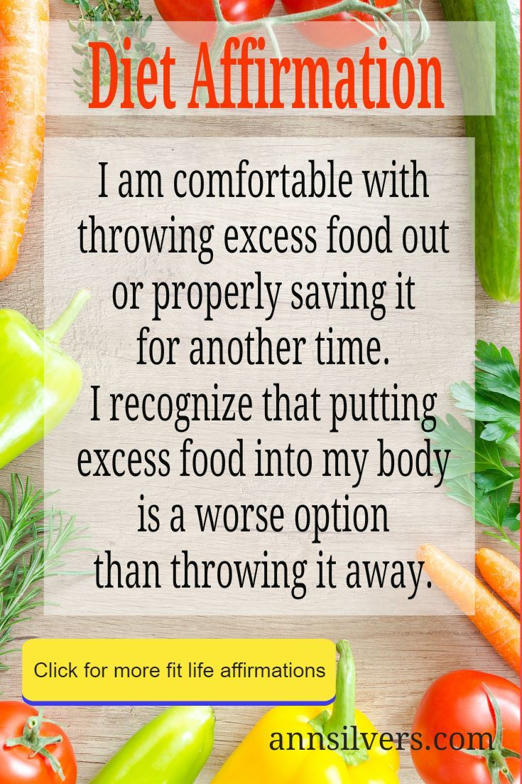 Portion Control Affirmations for Weight Loss and Healthy Living