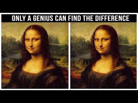 Only Geniuses Are Able To Find All The Differences Youtube Mona Lisa Afbeeldingen Ogen