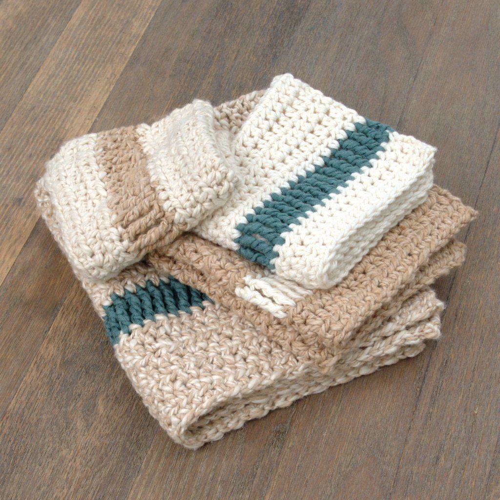 Pathways Dishcloth and Hand Towel