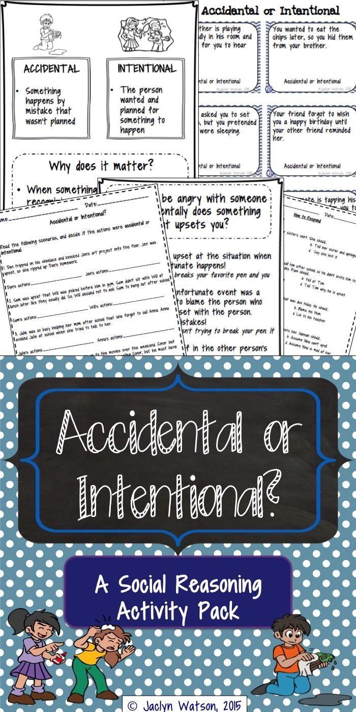 Social Skills Problem Solving Accidental Or Intentional