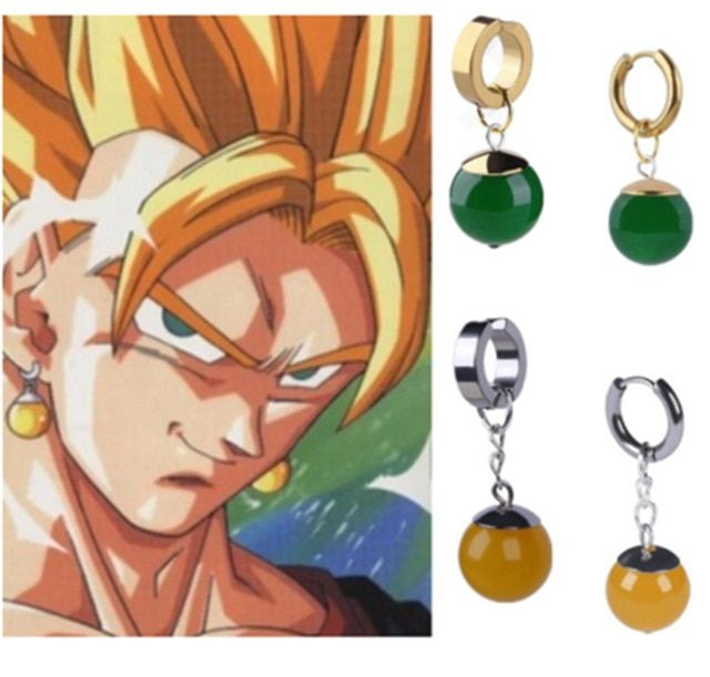 085406e02 Anime Super Dragon Ball Z Vegetto Potara Black Son Goku Cosplay Costumes  Zamasu Earrings Ear Stud for Halloween Purim
