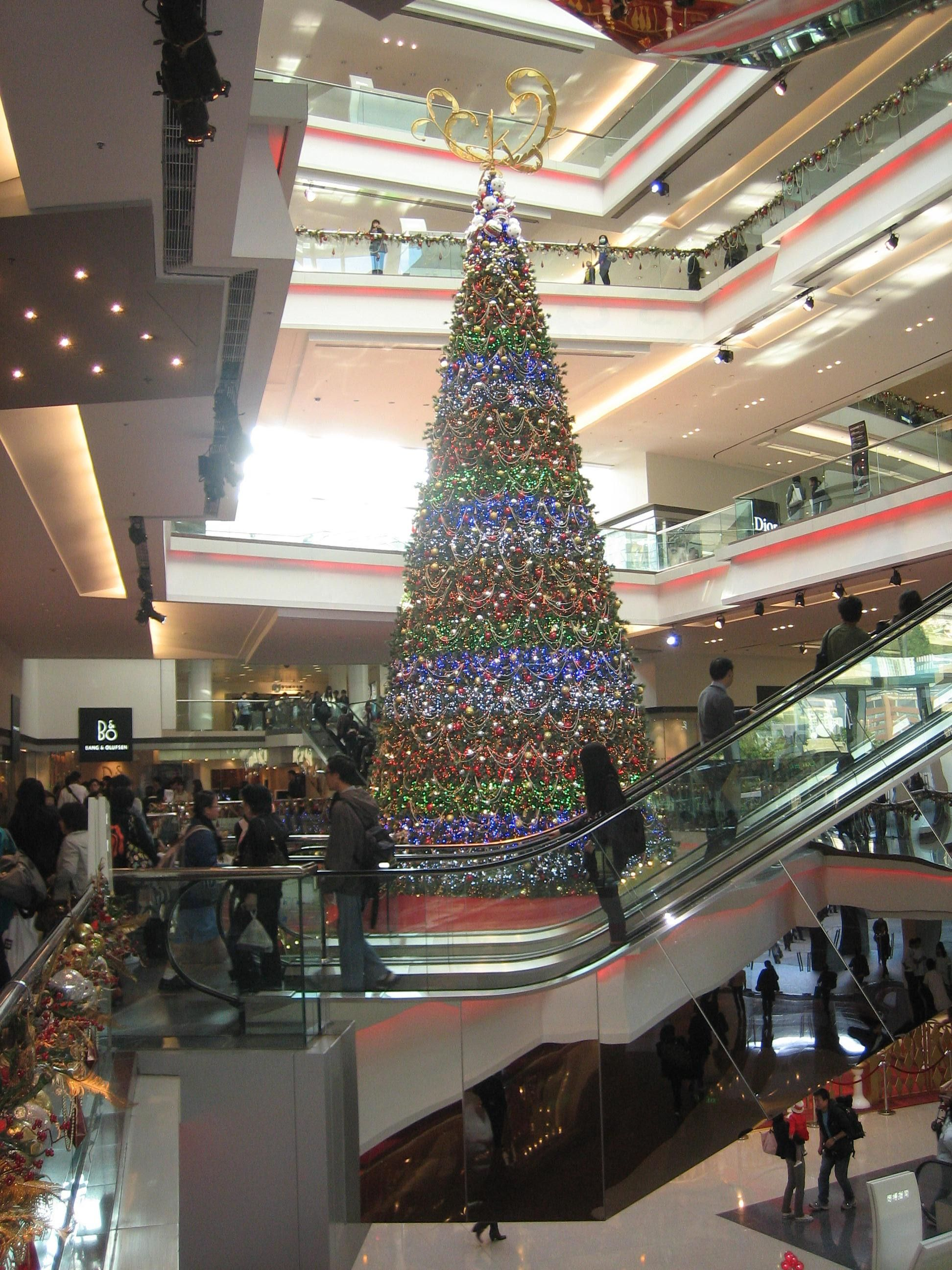 Christmas Tree In A Mall In Hong Kong Christmas Tree Christmas Tree Decorations Tree Decorations
