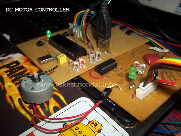 Pic18f4550 And Dc Motor Control Http Www Rakeshmondal Info Dc Motor Control Intro Motor Microcontrollers Electronic Shop