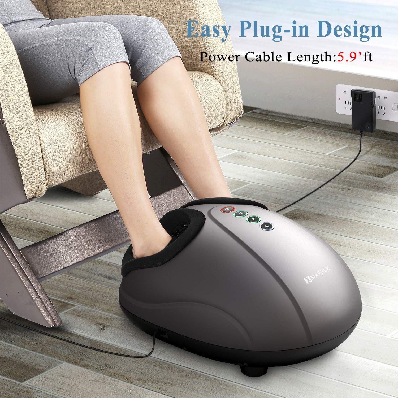 Shiatsu Foot Massager Electric Heat Kneading -Foot Massage Machine with  Rolling and Air Compression for Home… | Foot massage, Massage machine, Foot  massager machine