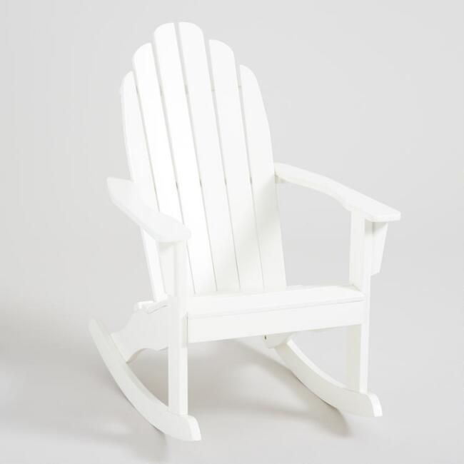 Antique White Adirondack Rocking Chair Adirondack Rocking Chair