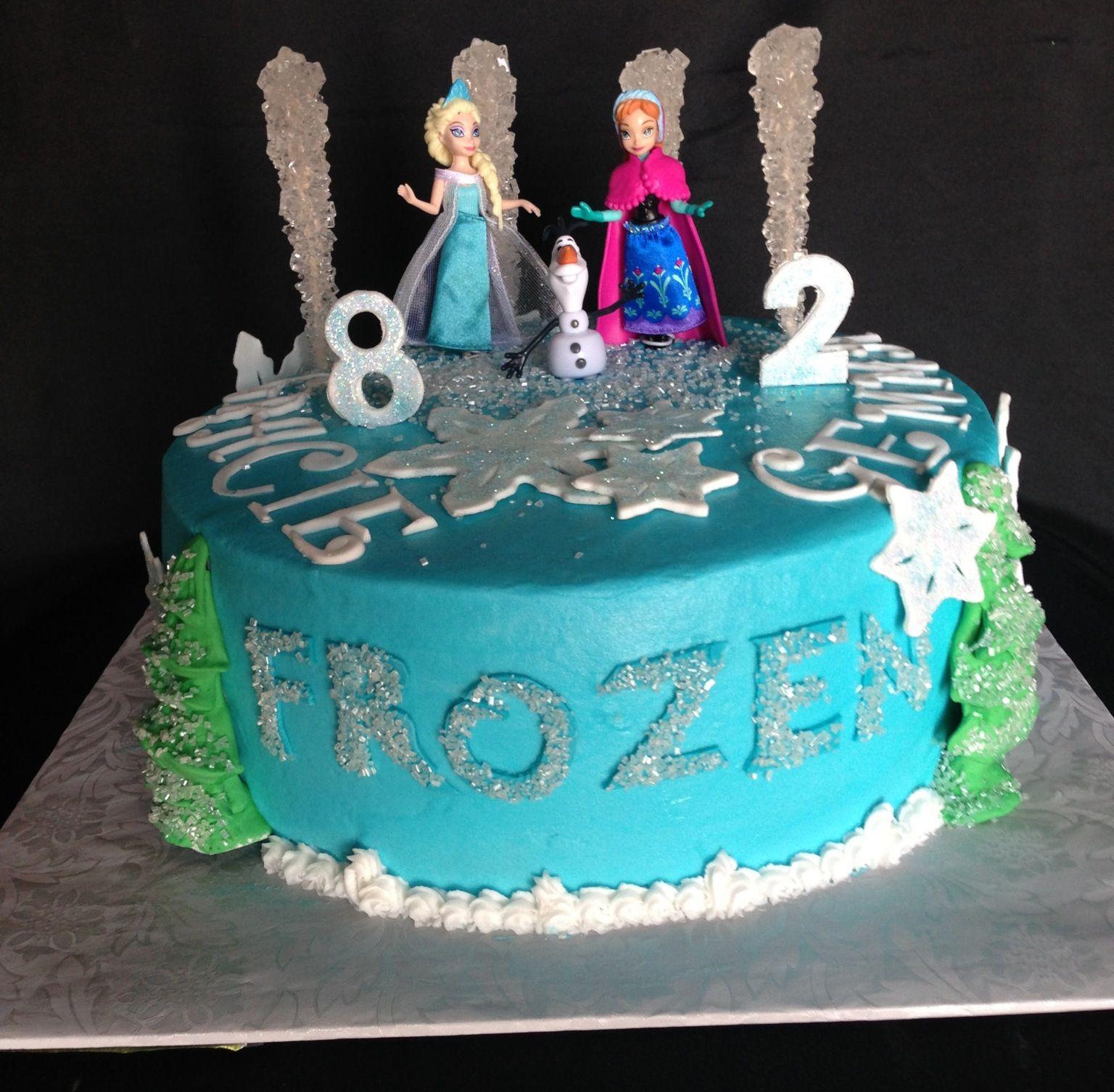 Frozen cake sister cake cakes ive made pinterest