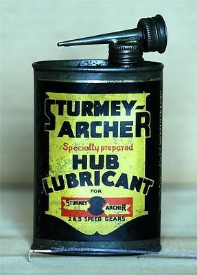 Vintage Sturmey Archer Hub Lubricant Oil Can For 2 3 Gears
