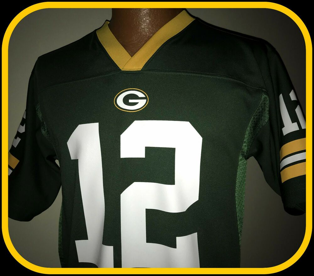 Details About Green Bay Packers Aaron Rodgers Team Apparel Replica Jersey Youth Lg Free Ship In 2020 With Images Nfl Outfits Green Bay Packers Shirts Green Bay Packers Aaron Rodgers