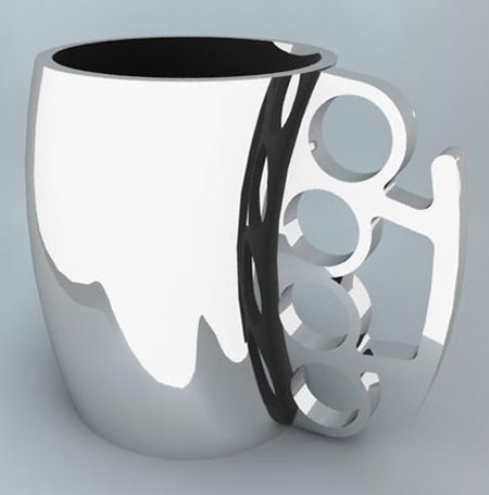 This is great.. I feel like a set of knuckledusters could be handy with my first cup of coffee