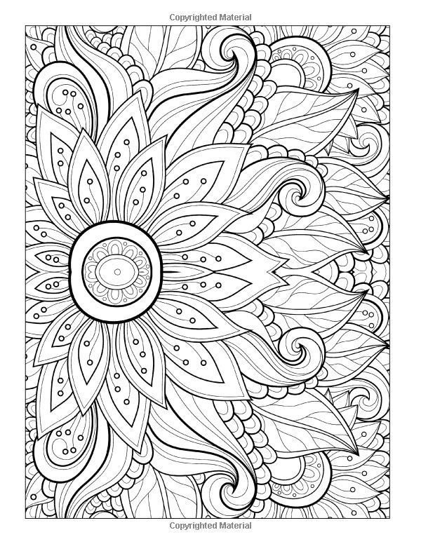 To Print This Free Coloring Page Adult Flower With Many