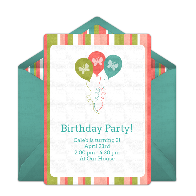Spring Birthday Invitations Cute Online You Can Personalize And Send Via Email