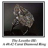 The beautiful 40 carat marquise Lesotho III diamond was a gift to