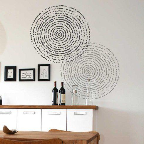 Resonance modern wall stencil contemporary wall art stencils for diy home decor