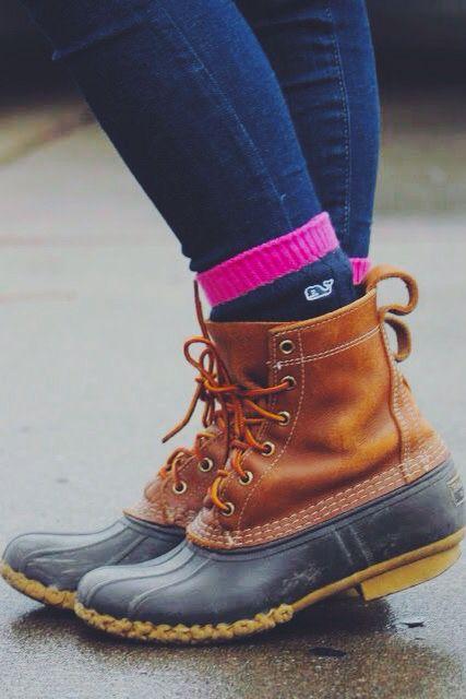Like The Socks Too Style Bean Boots Shoes Fashion