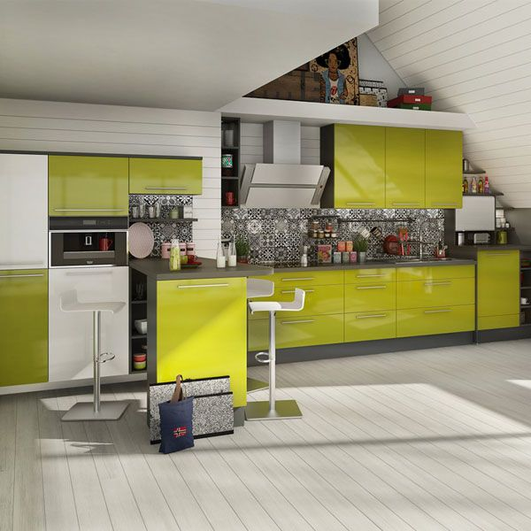 Cuisines vertes  Cinq modèles ultra déco à ne pas louper ! Kitchens - logiciel 3d maison gratuit