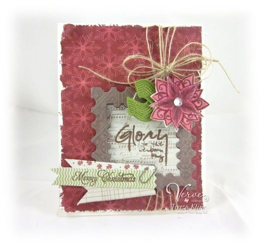 Holiday card by Teresa Kline using Verve Stamps.