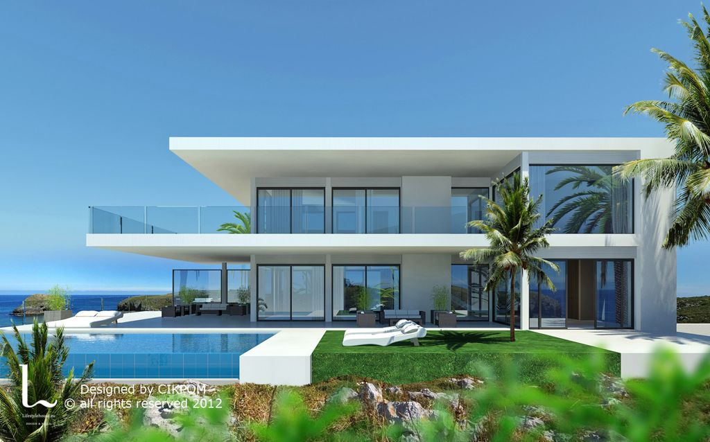 Dhm34000 design villa in la alqueria la alqueria marbella spain www Modern house plans for sale