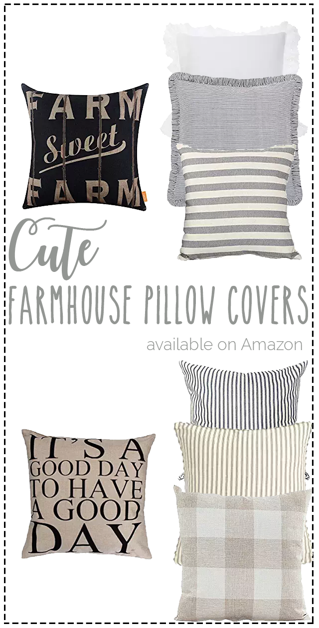 Favorite Farmhouse Pillow Covers On Amazon Affordable Pillow