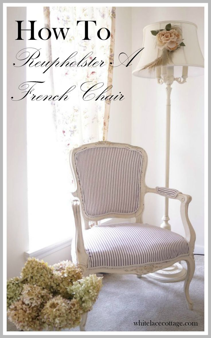 How to easily reupholster a french chair diy home decor - Tapizar una mecedora ...