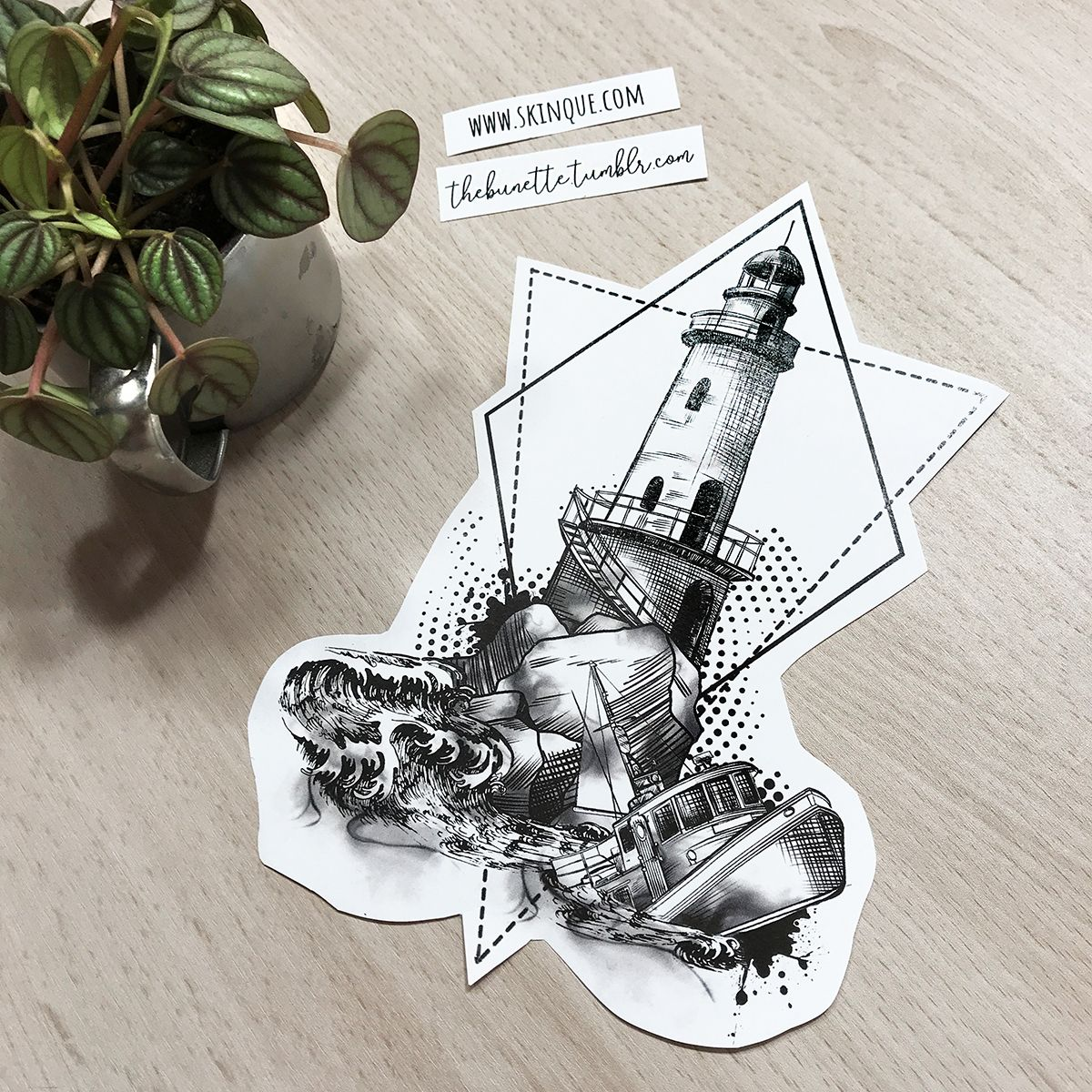 Lighthouse Boat Geometric Abstract Sketch Tattoo Design Illustration Lighthouse Tattoo Sketch Tattoo Design Tattoo Sketches
