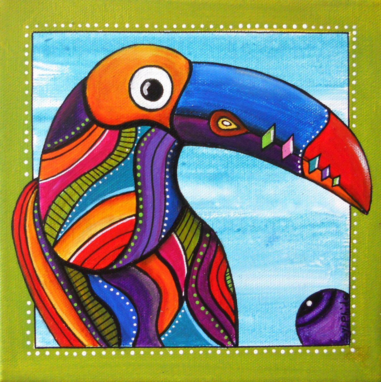 tableau de toco le toucan tr s color zvierata pinterest tableau de tableau et peinture. Black Bedroom Furniture Sets. Home Design Ideas