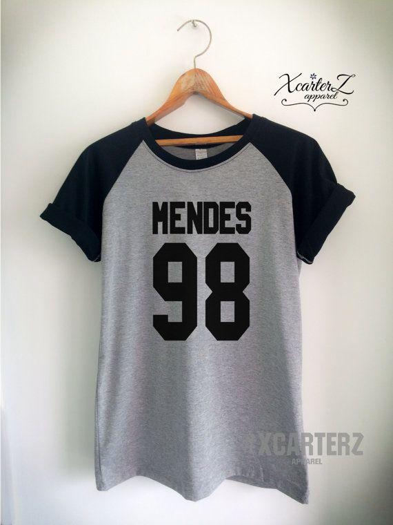 4bc2230b348 Mendes Shirt MENDES 98 T-Shirt Print on Front or Back side Unisex Women Men  Tumblr Slope Baseball T-