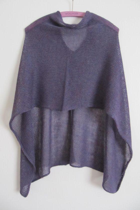 Very easy Poncho | Knitting | Pinterest | Häkeln, Stricken und Nähen