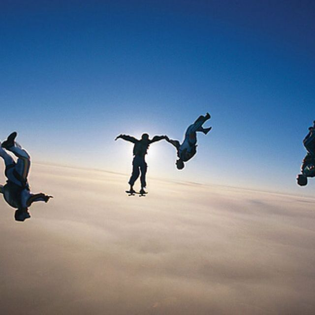 Bonus If These Skydivers Are Actually Skaters Skydiving Skate Roller