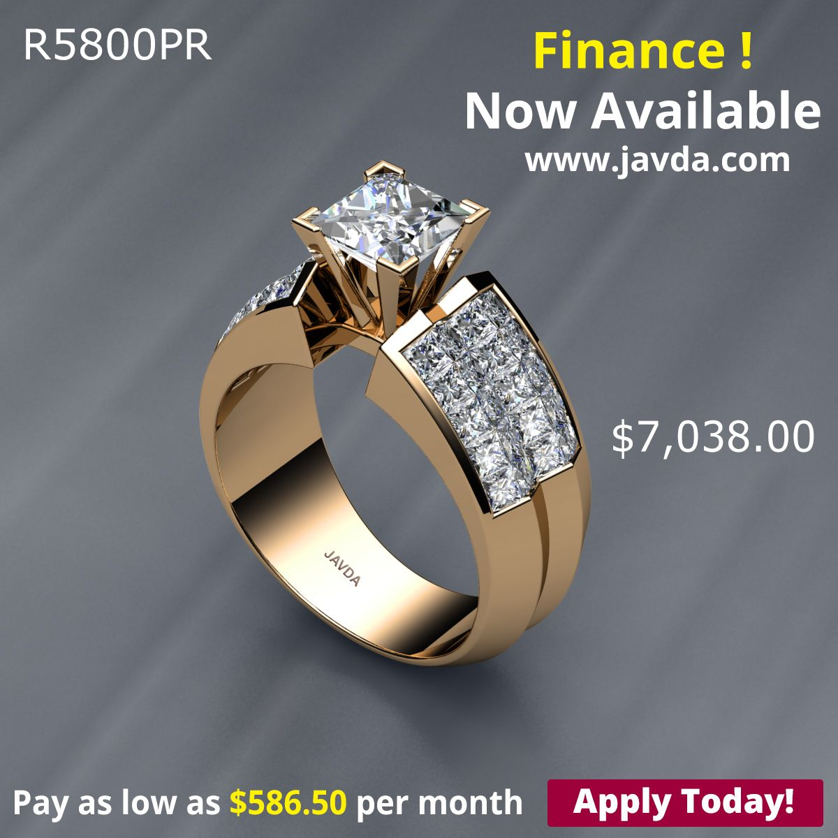 Princess Diamond Engagement Invisible Set Ring Certified By Gia I Color Si2 Clarity 14k Yellow Gold 2 92 Ct Total Weight