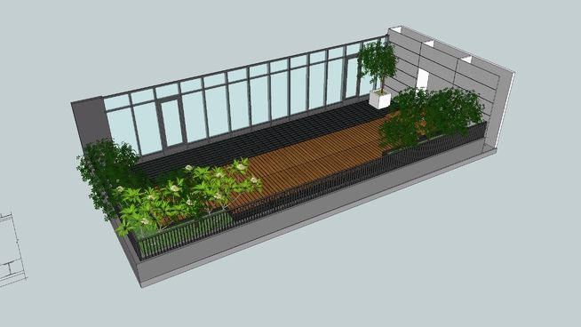 Large preview of 3D Model of Terrace garden-露臺花園  076b4224e2