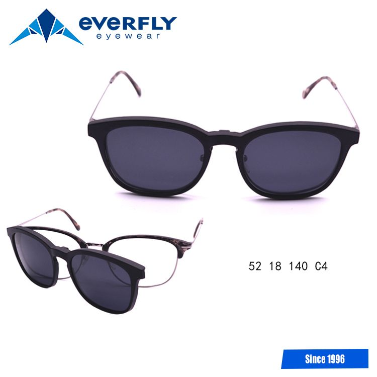 a2b65d7abd4 2017 fashion custom logo eyeglasses for clip polarized optical frames  magnetic clip-on glasses frame
