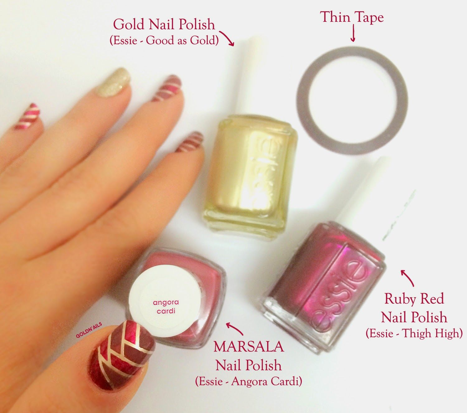 Braided Nails in Marsala Shades – The Color of The Year 2015 with ...