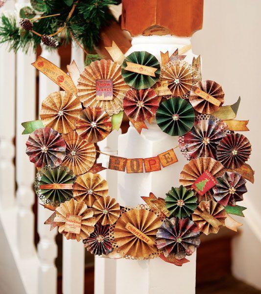 Christmas Door Wreaths   18 Craft Ideas With Cheap Materials