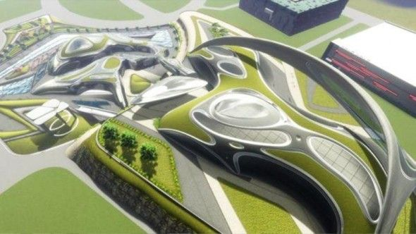 Sustainable Architecture for The Future, use of solar power and plants for sustainability.