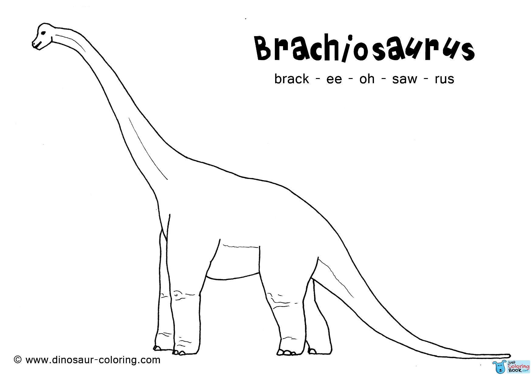 Brachiosaurus Was A Long Necked Herbivore Dinosaur That Lived In Throughout Free Brachiosaurus Coloring Dinosaur Coloring Pages Dinosaur Coloring Brachiosaurus