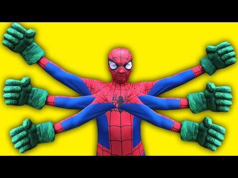Spiderman Vs Duck Vs Hulk Vs Joker Vs Venom Fun Superhero Movie In Real Life Superhero Movies Superhero Spiderman
