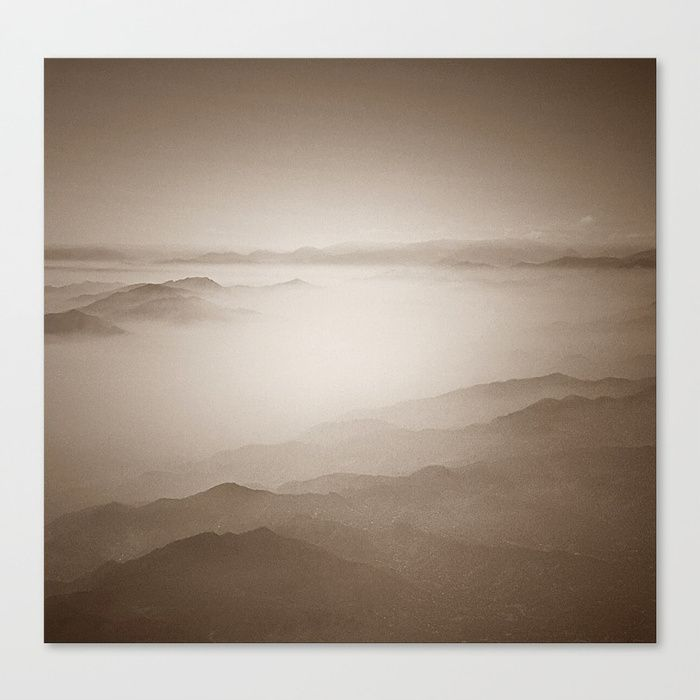 Sky view sepia canvas print boxingday sale at my society6