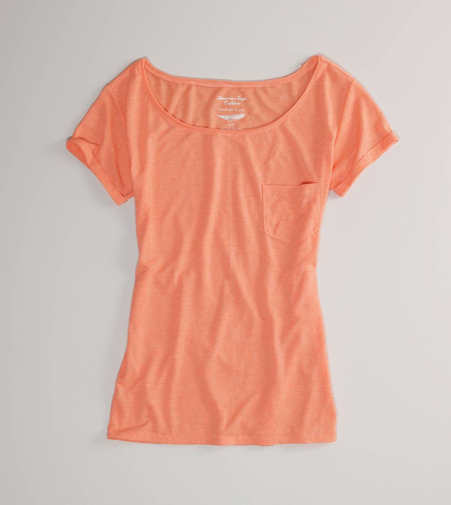 orange t-shirt.