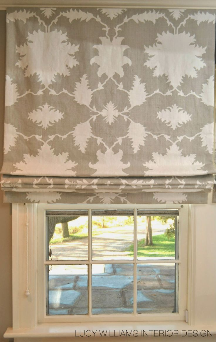 Contemporary roman shade in schumacher imperial trellis fabric by - Roman Shade By Schumacher Mary Mcdonald Garden Of Persia In Dove Lucy Williams Interior Design