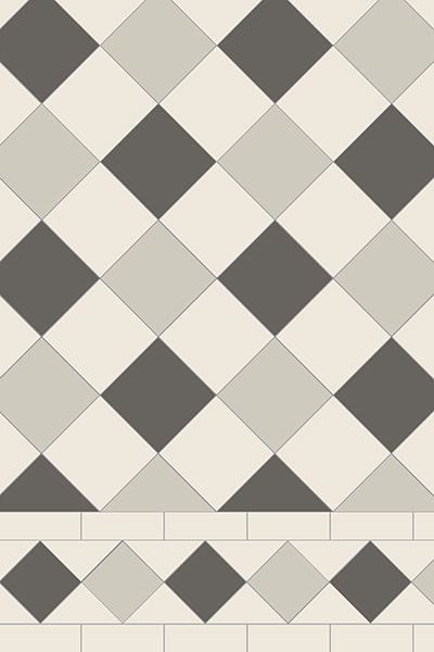 Oxford 3 Colour Tile Pattern With